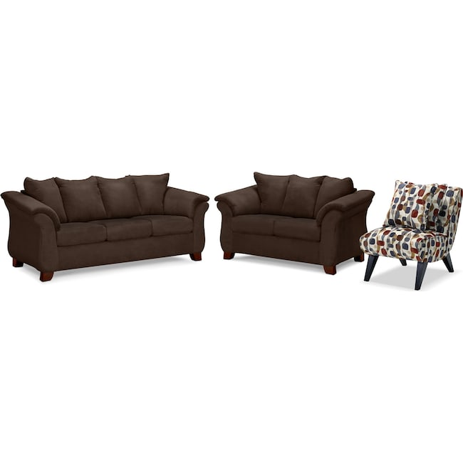Sofa King Fridays: Adrian Sofa, Loveseat And Accent Chair Set