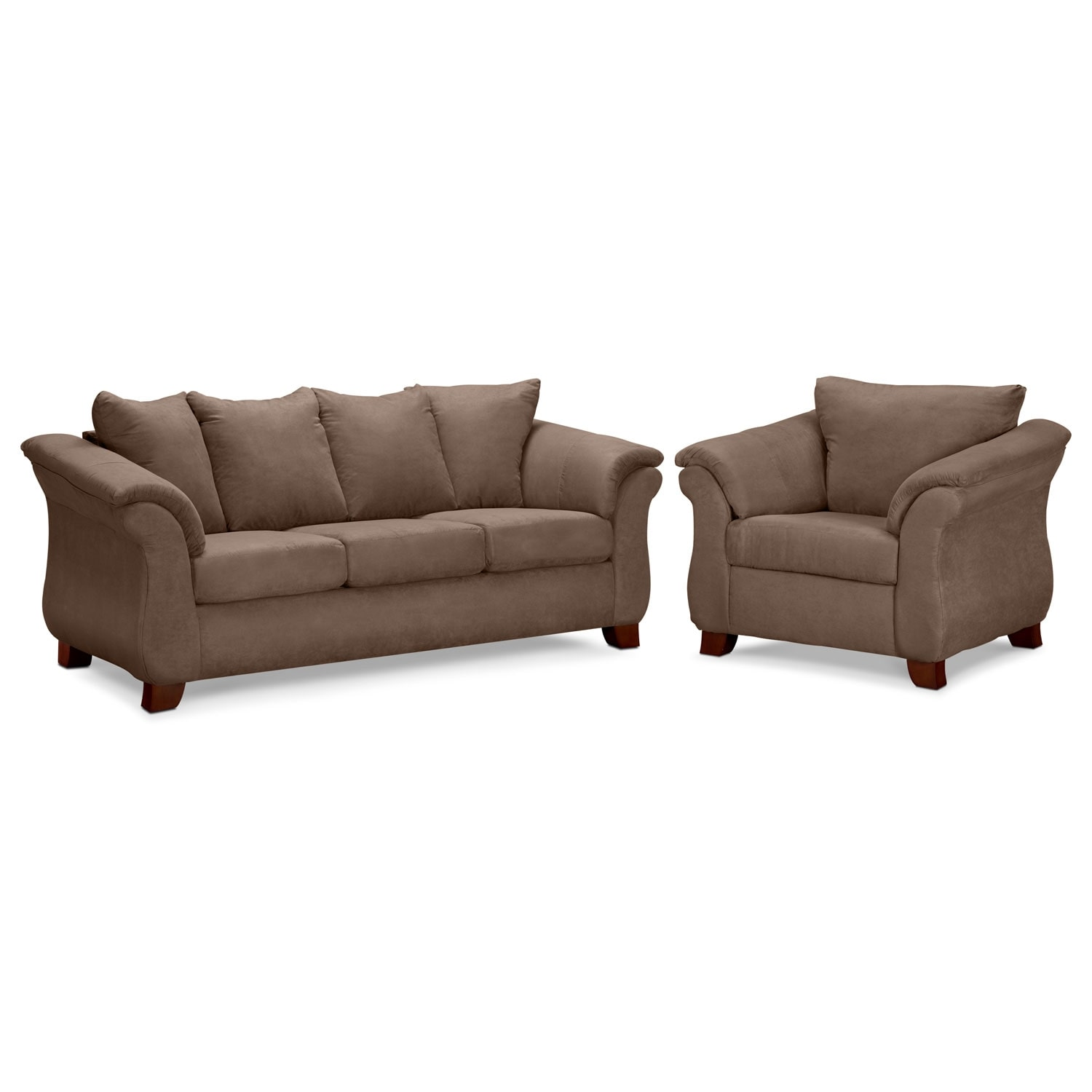 Adrian Sofa and Chair Set - Taupe