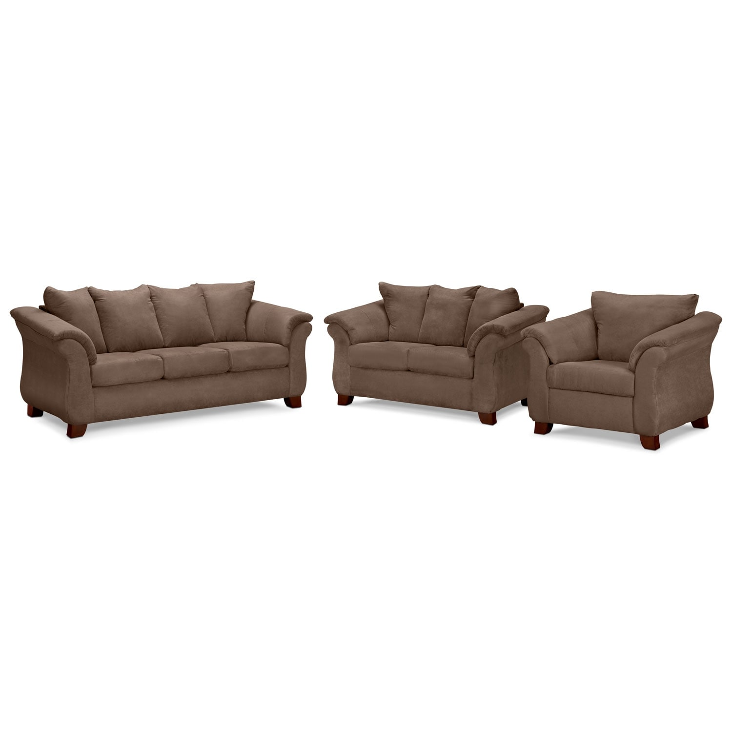 [Adrian Taupe 3 Pc. Living Room]