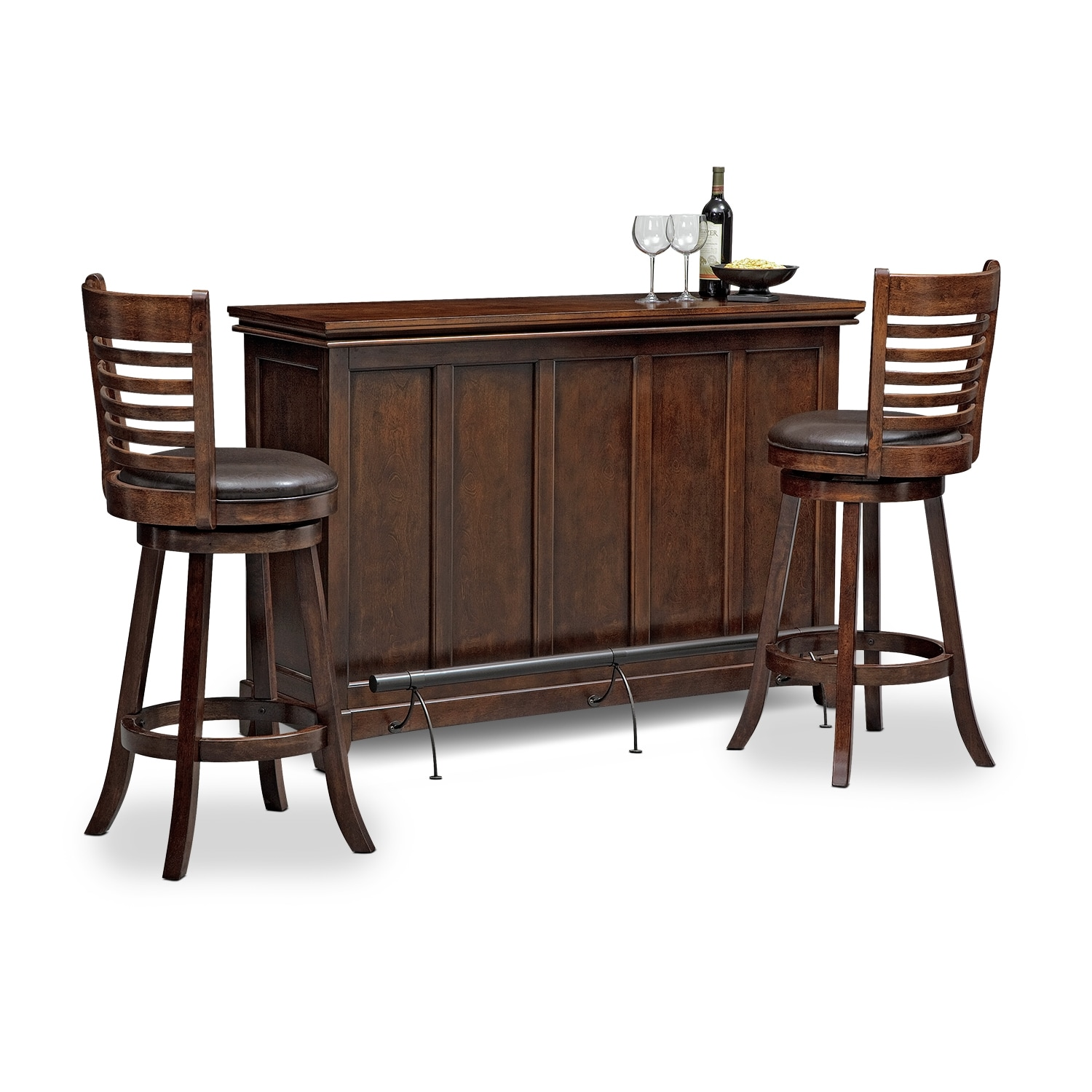 Accent and Occasional Furniture - Carlton Chance 3 Pc. Bar Set
