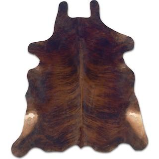 Cowhide 5' x 7' Area Rug - Dark Brindle