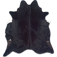Cowhide 5' x 7' Area Rug | Black Brindle