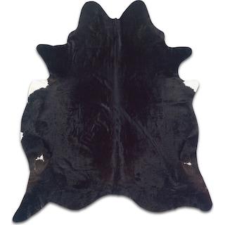 Cowhide 5' x 7' Area Rug - Black Brindle