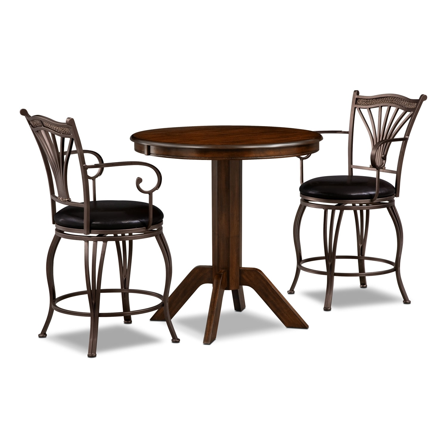 Dining Room Furniture - Concord Morgan 3 Pc. Counter-Height Dinette