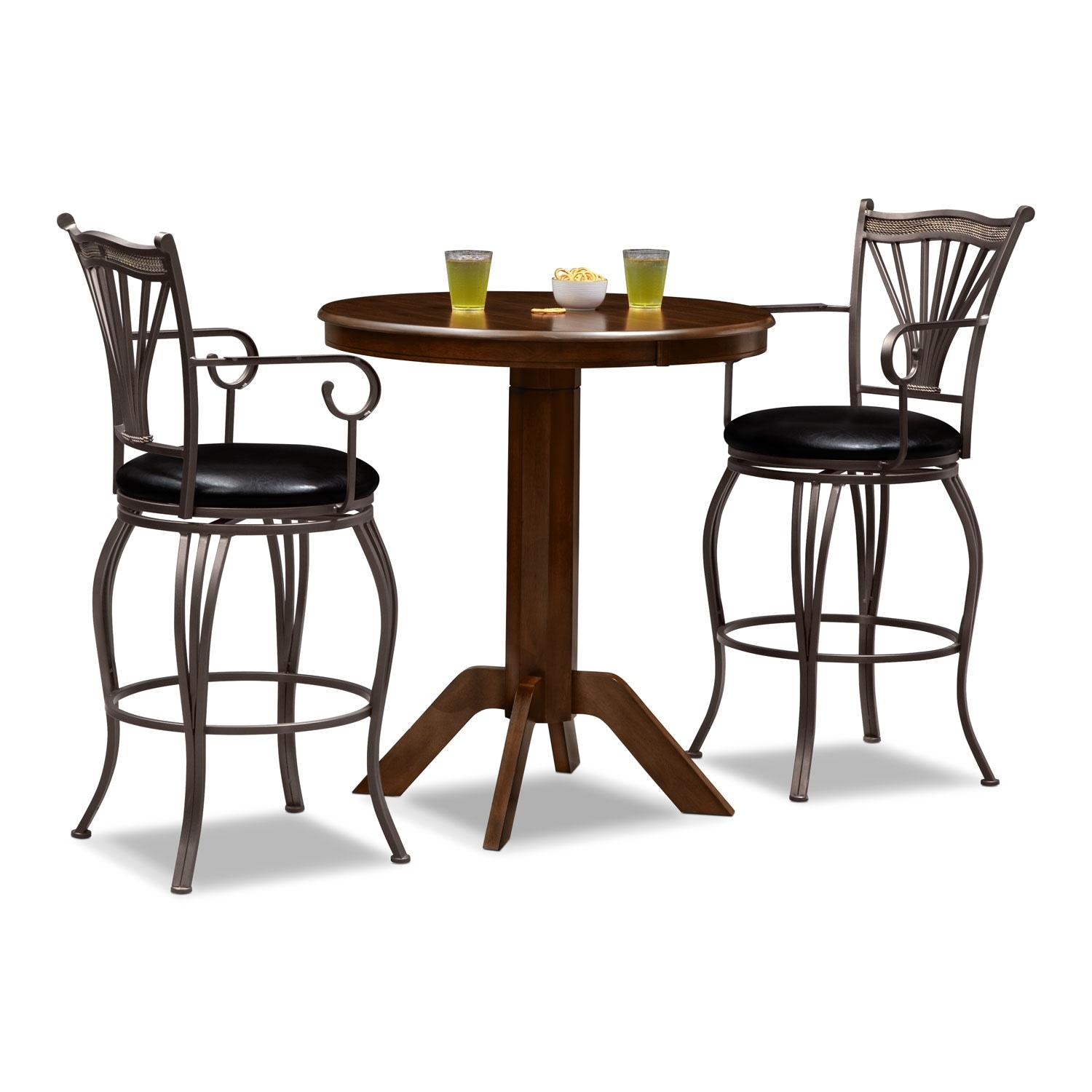 Dining Room Furniture - Concord Morgan 3 Pc. Bar-Height Dinette