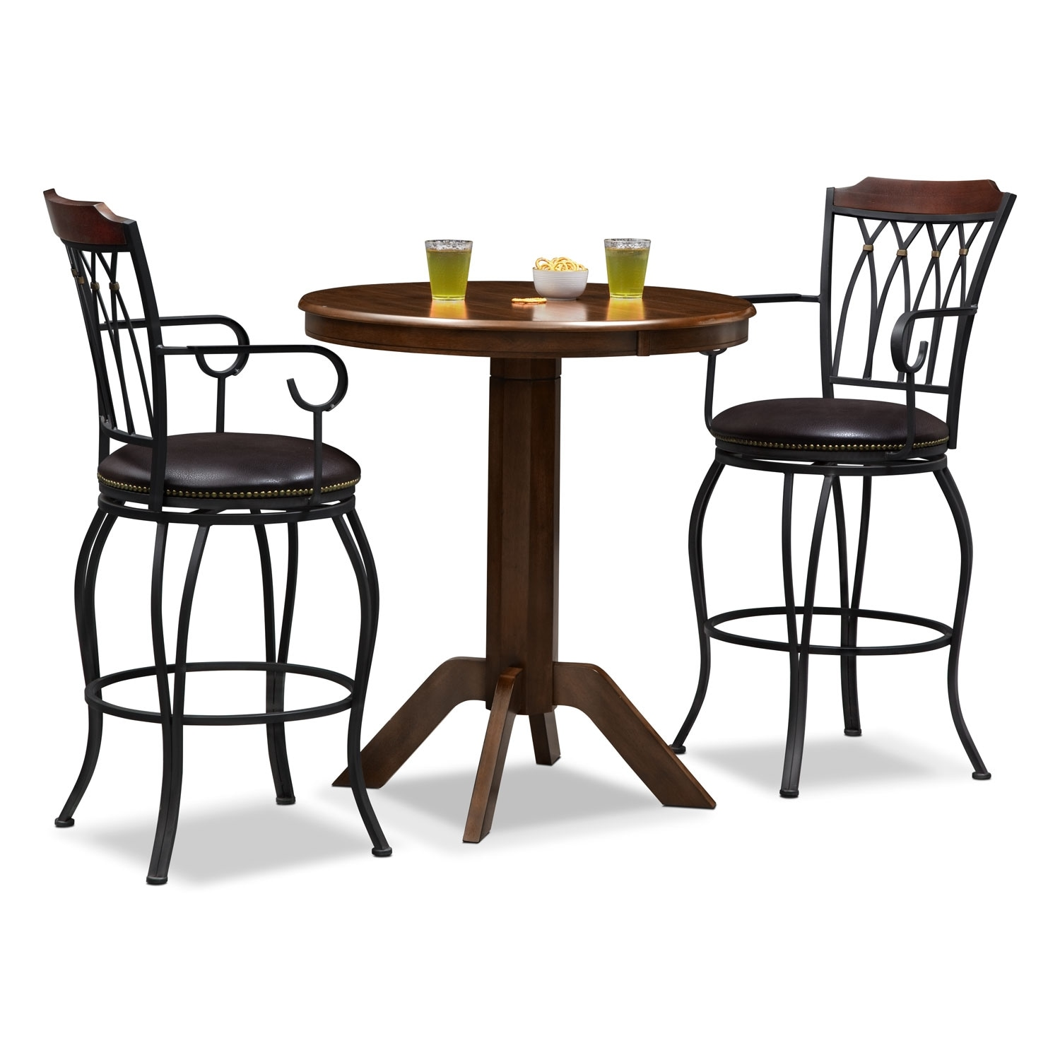 Accent and Occasional Furniture - Concord Winfield 3 Pc. Bar-Height Dinette