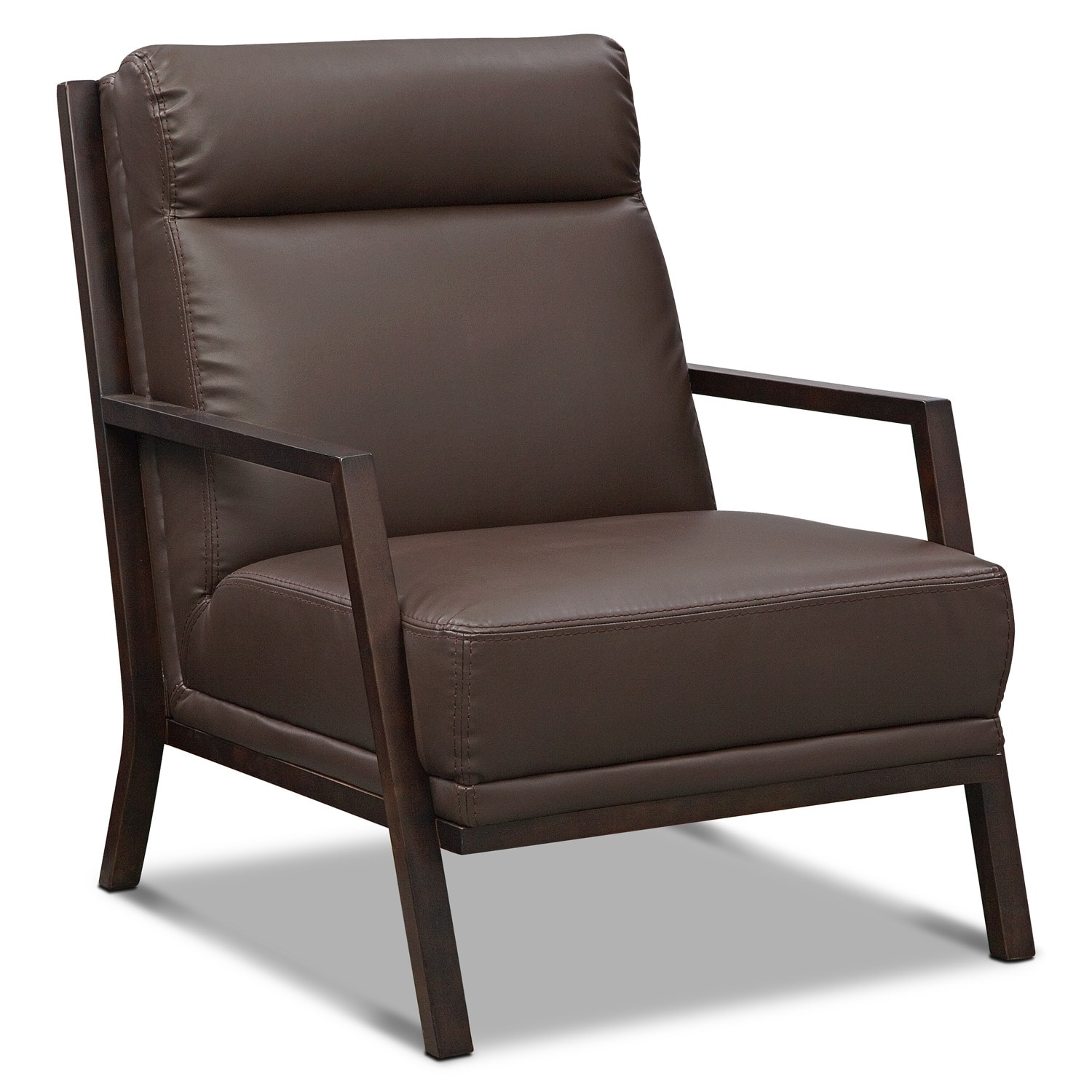 Living Room Furniture - Bowery Accent Chair - Brown