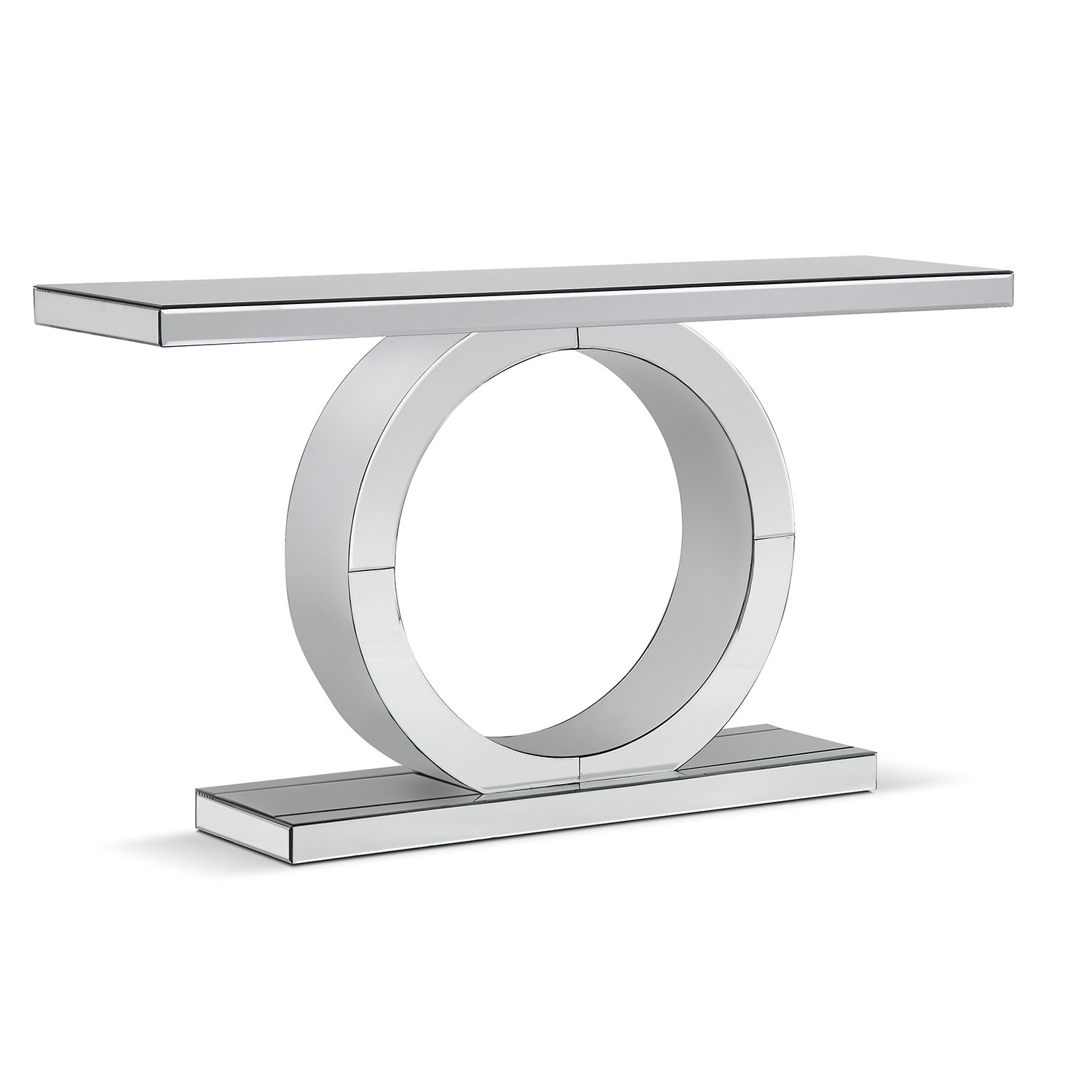 Accent and Occasional Furniture - Olympia Sofa Table - Mirror