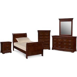 Neo Classic Youth 7-Piece Twin Bedroom Set - Cherry