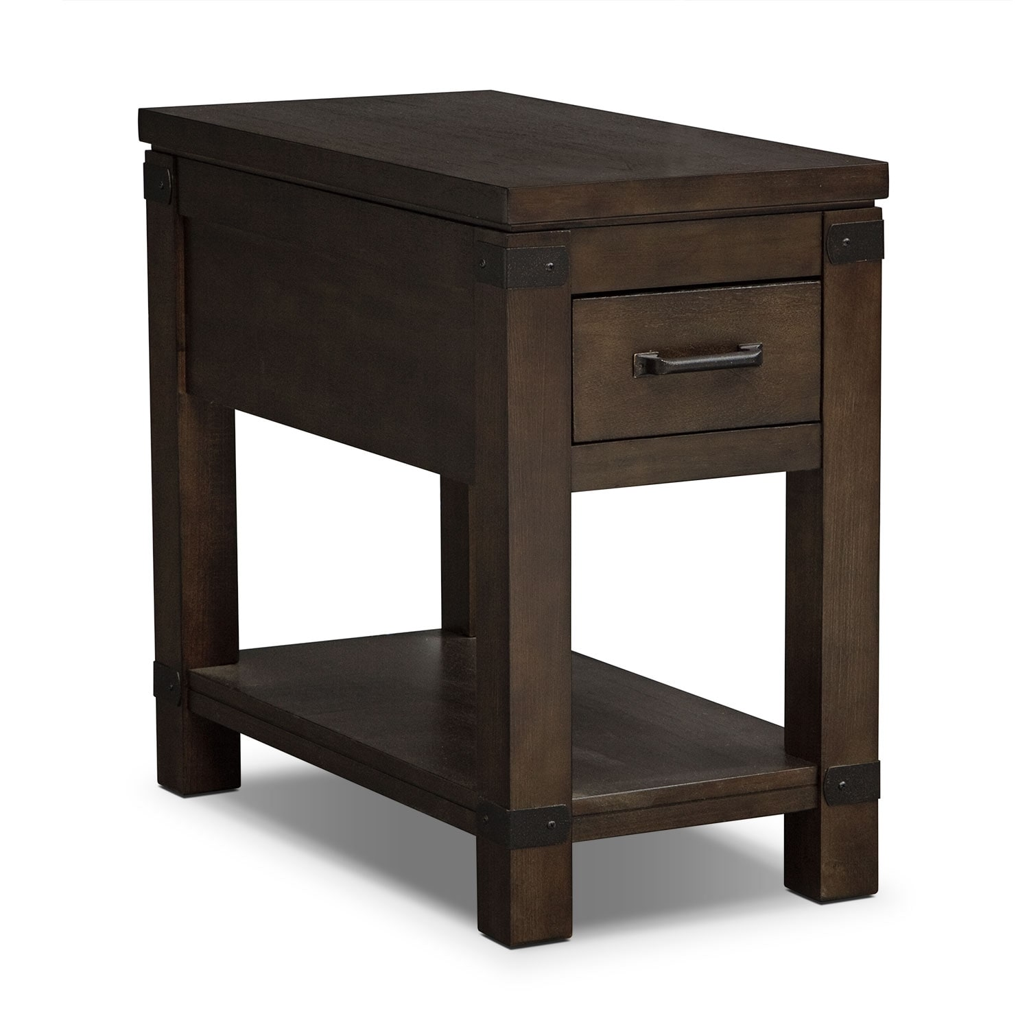 Camryn Chairside Table - Warm Cocoa