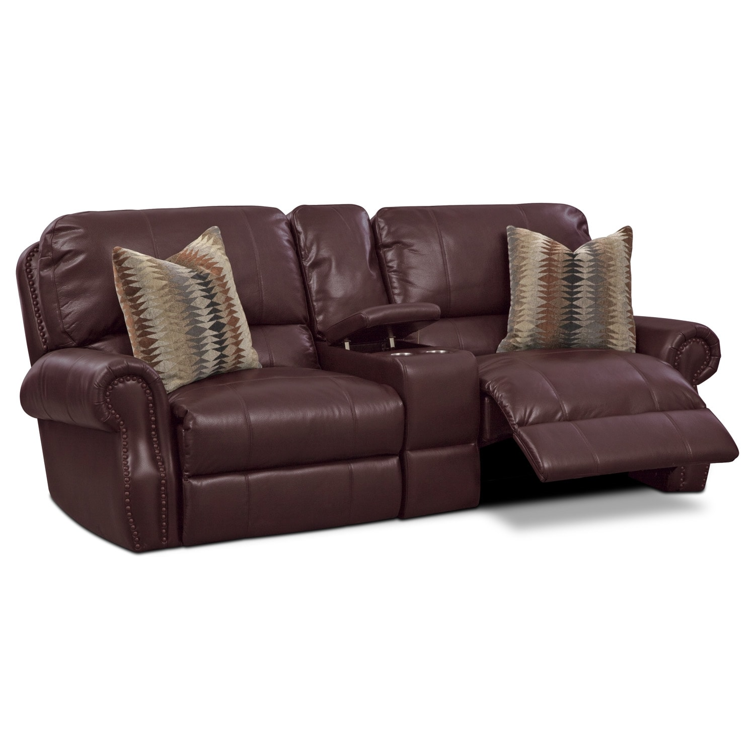 Living Room Furniture - Princeton 3 Pc. Power Reclining Sofa with Console