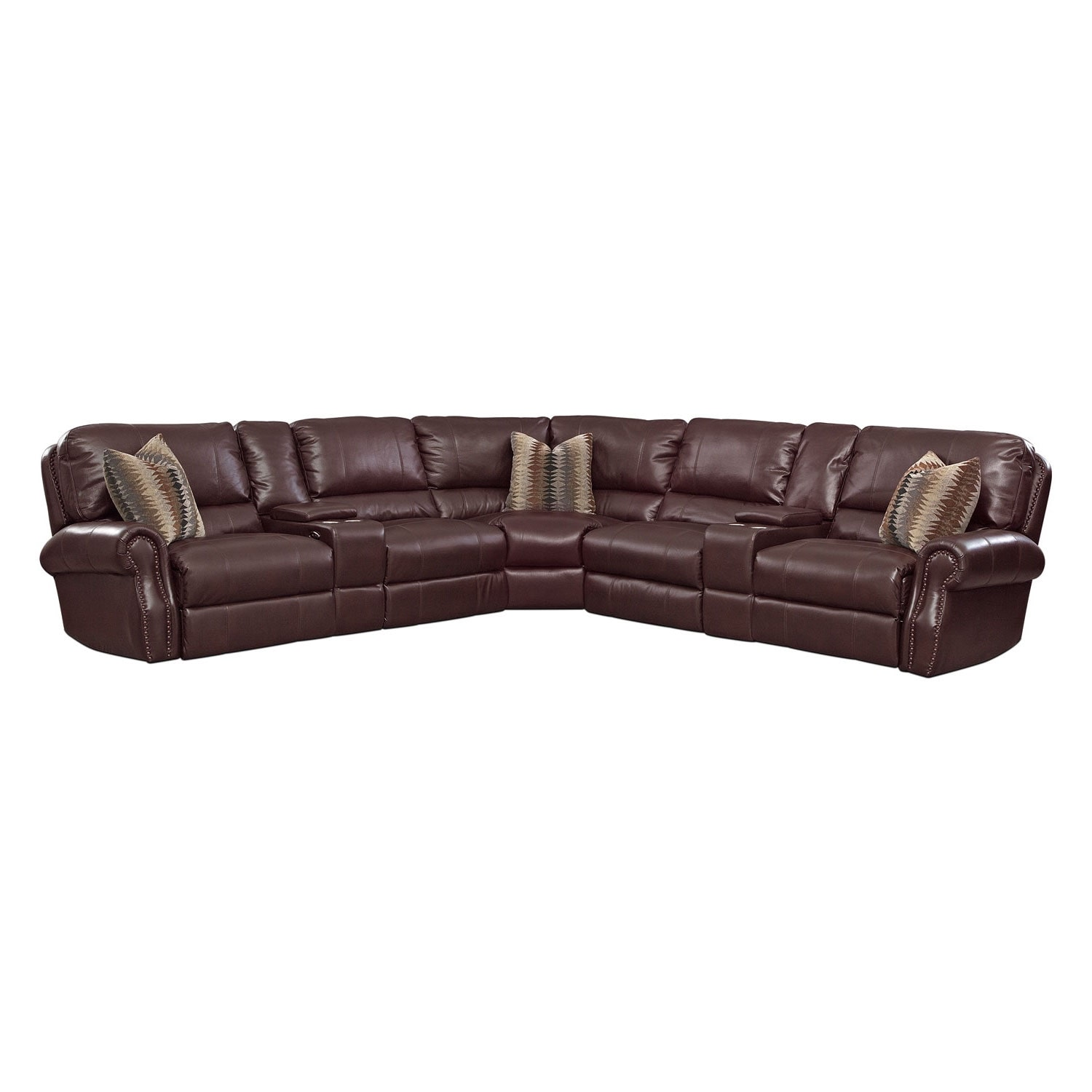 Living Room Furniture - Princeton 5 Pc. Power Reclining Sectional (Alternate)