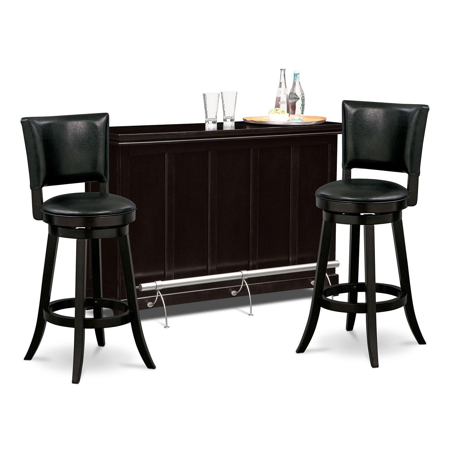 Accent and Occasional Furniture - Carlton II Easton 3 Pc. Bar Set