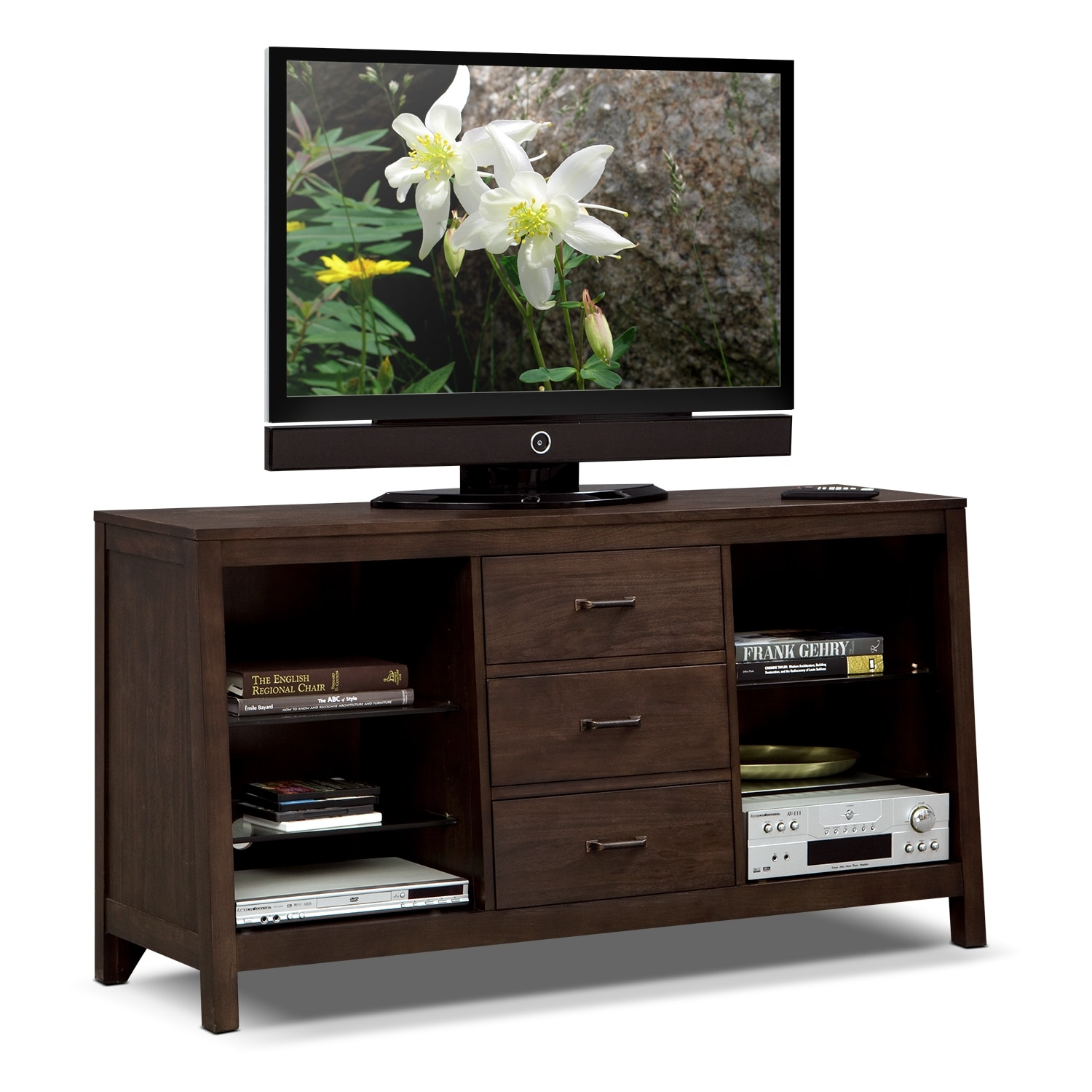 Entertainment Furniture - Camryn TV Stand - Warm Cocoa