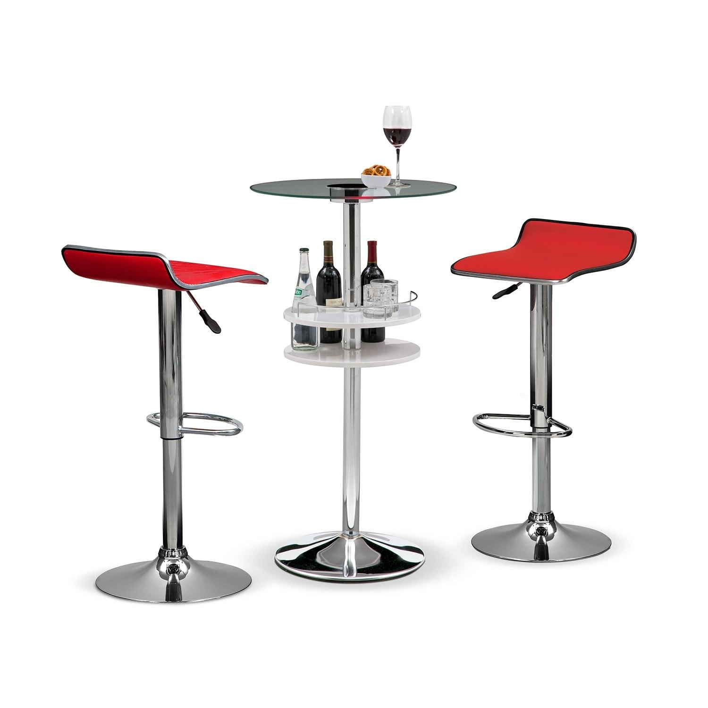 Reno Lisbon 3 Pc. Bar Set