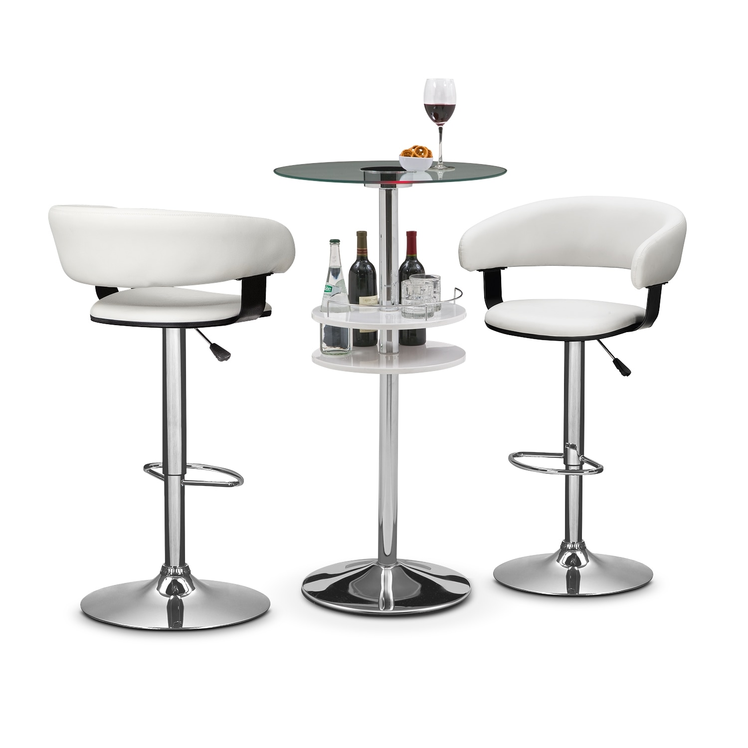 Accent and Occasional Furniture - Reno Glasgo 3 Pc. Bar Set