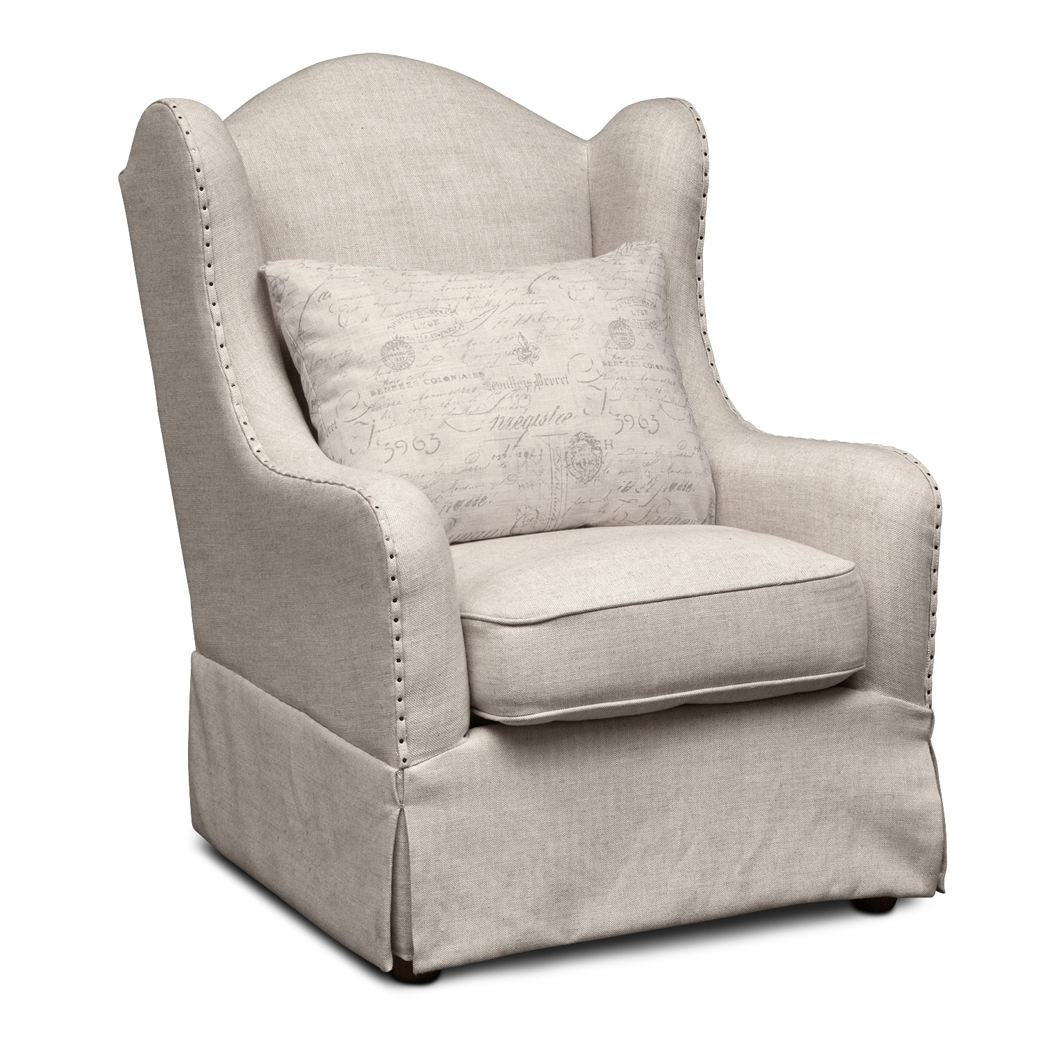 madeline accent chair  beige  value city furniture - madeline accent chair  beige by vie boutique living room furniture madeline accent chair  beige