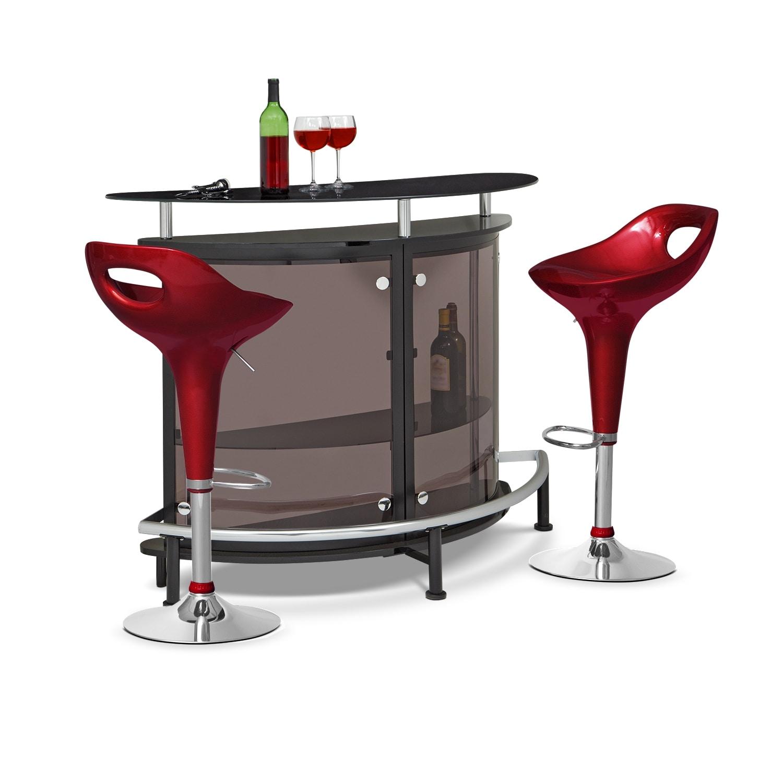 Accent and Occasional Furniture - Vegas Drake 3 Pc. Bar Set