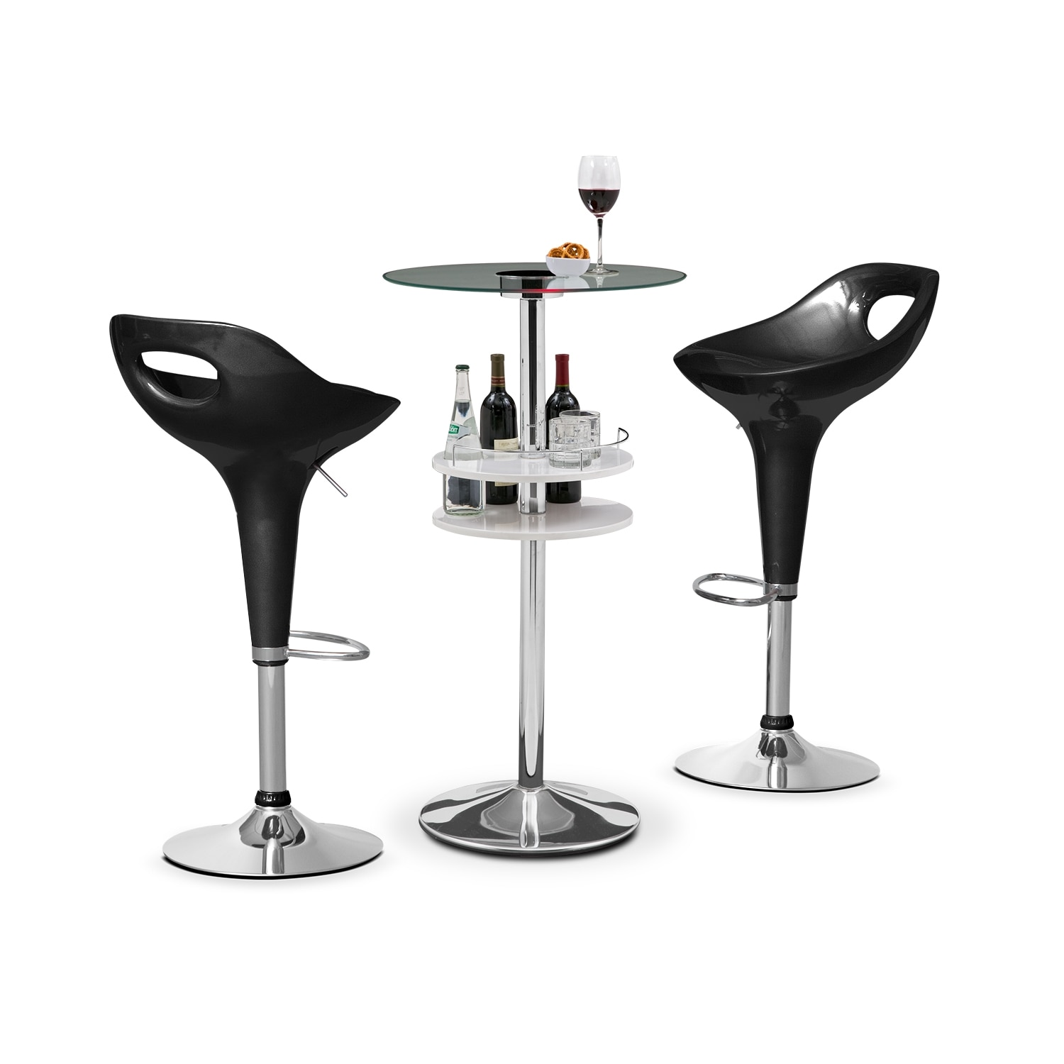 Accent and Occasional Furniture - Reno Drake 3 Pc. Bar Set