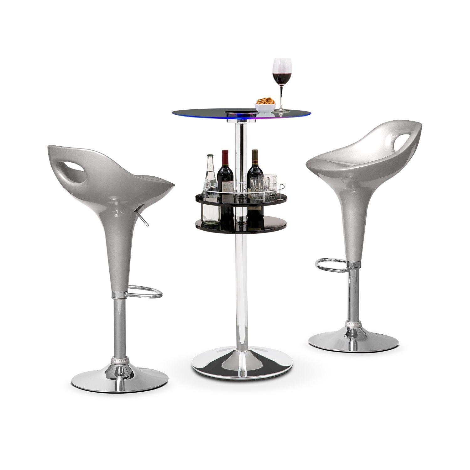 Accent and Occasional Furniture - Reno Drake II 3 Pc. Bar Set