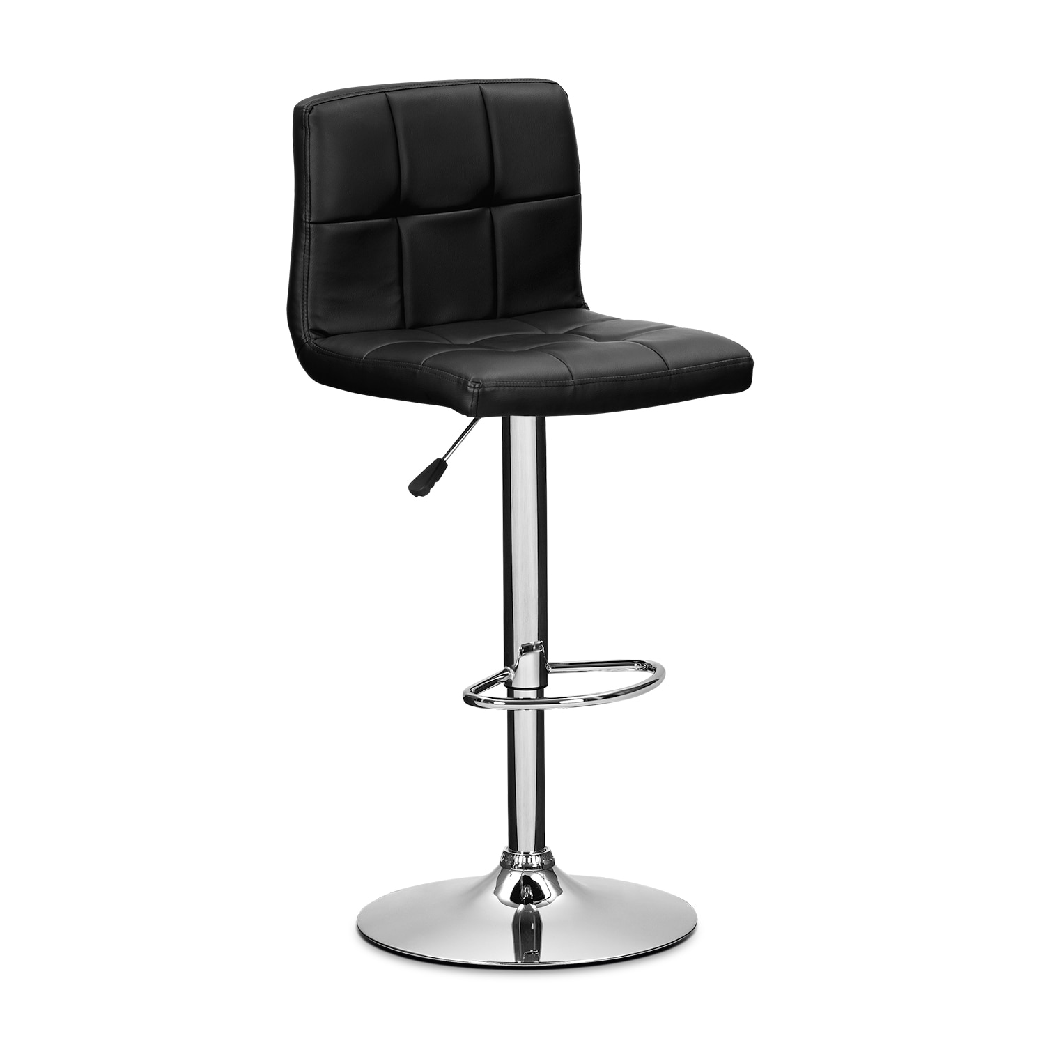 Accent and Occasional Furniture - Marseille Black Adjustable Barstool
