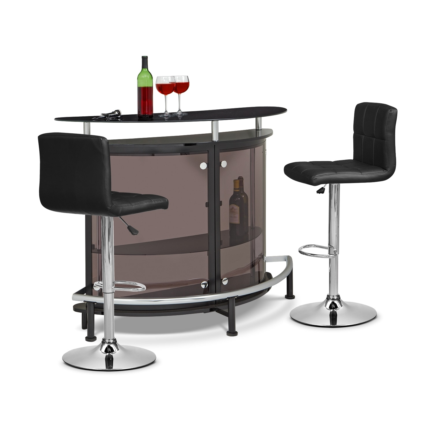 Accent and Occasional Furniture - Vegas Marseille 3 Pc. Bar Set