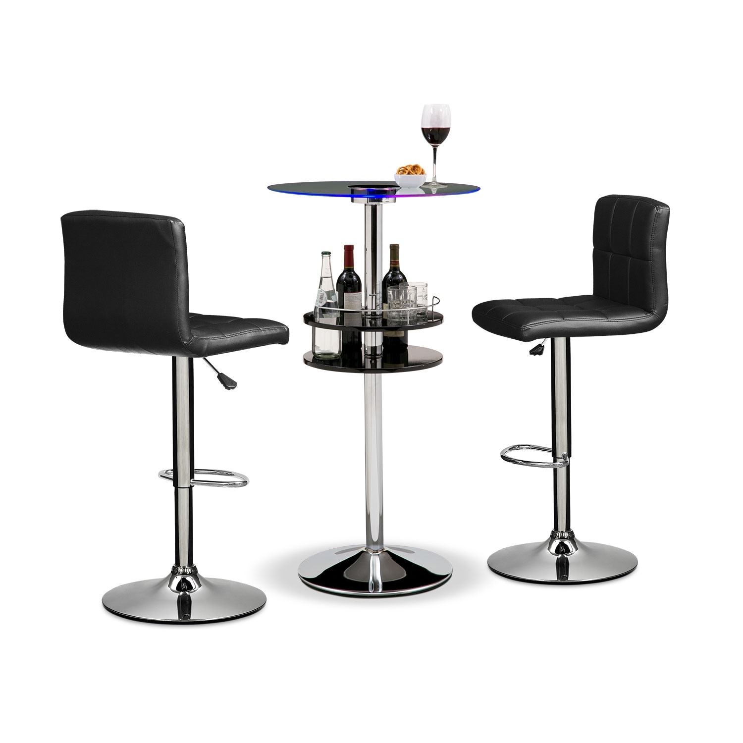 Accent and Occasional Furniture - Reno Marseille II 3 Pc. Bar Set