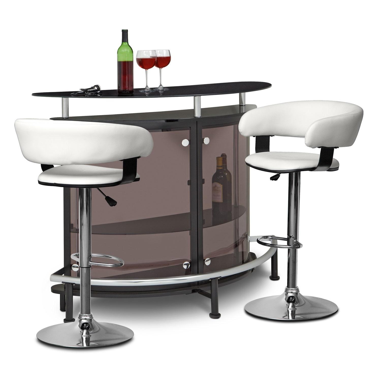 Vegas Glasgo 3 Pc. Bar Set