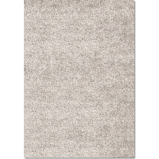 Comfort Shag 5' x 8' Area Rug - Light Gray