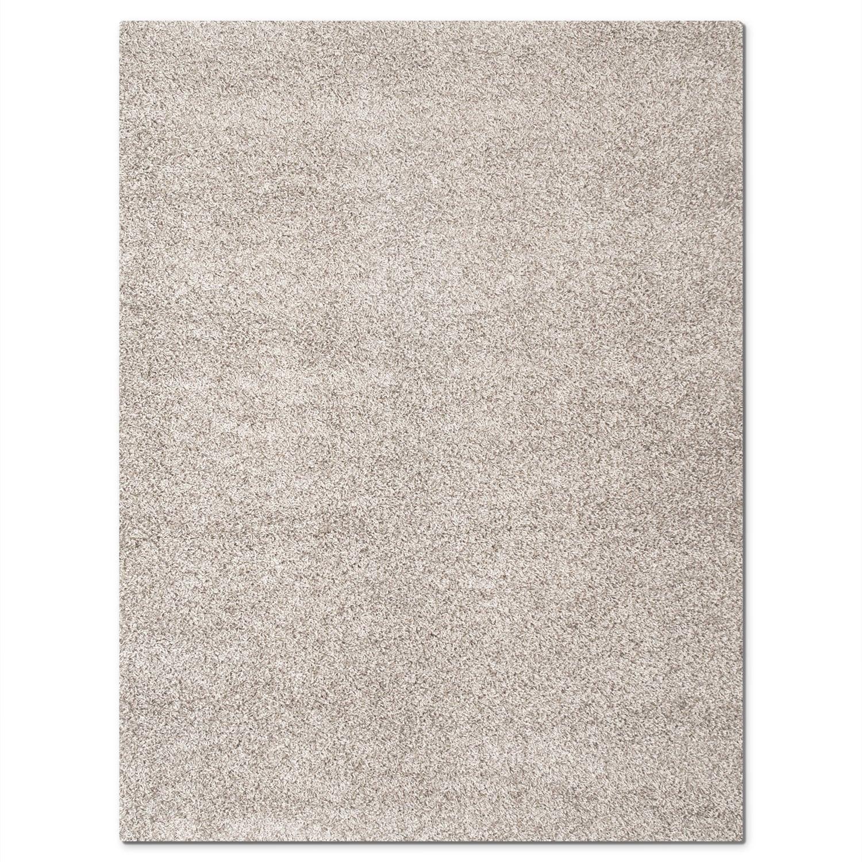Rugs - Domino Gray Shag Area Rug (8' x 10')