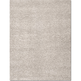 Domino Shag 5' x 8' Area Rug - Gray