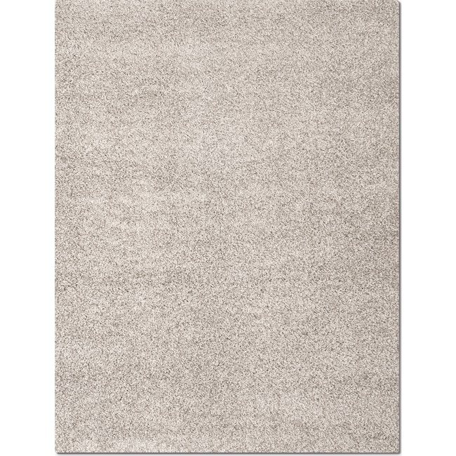 Rugs - Domino Gray Shag Area Rug (5' x 8')