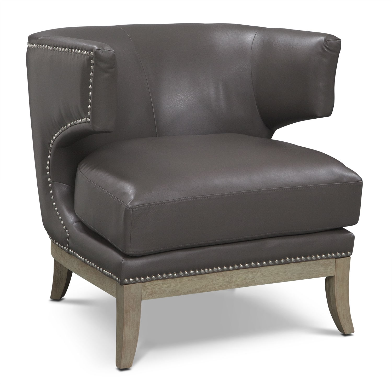 Accent and Occasional Furniture - Clarise Accent Chair - Gray