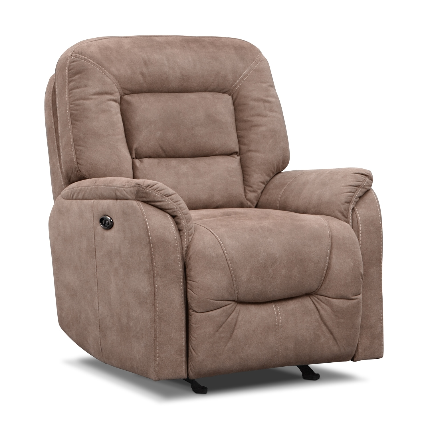 Darien Power Glider Recliner - Taupe by One80  sc 1 st  Value City Furniture & Darien Power Glider Recliner - Taupe | Value City Furniture islam-shia.org