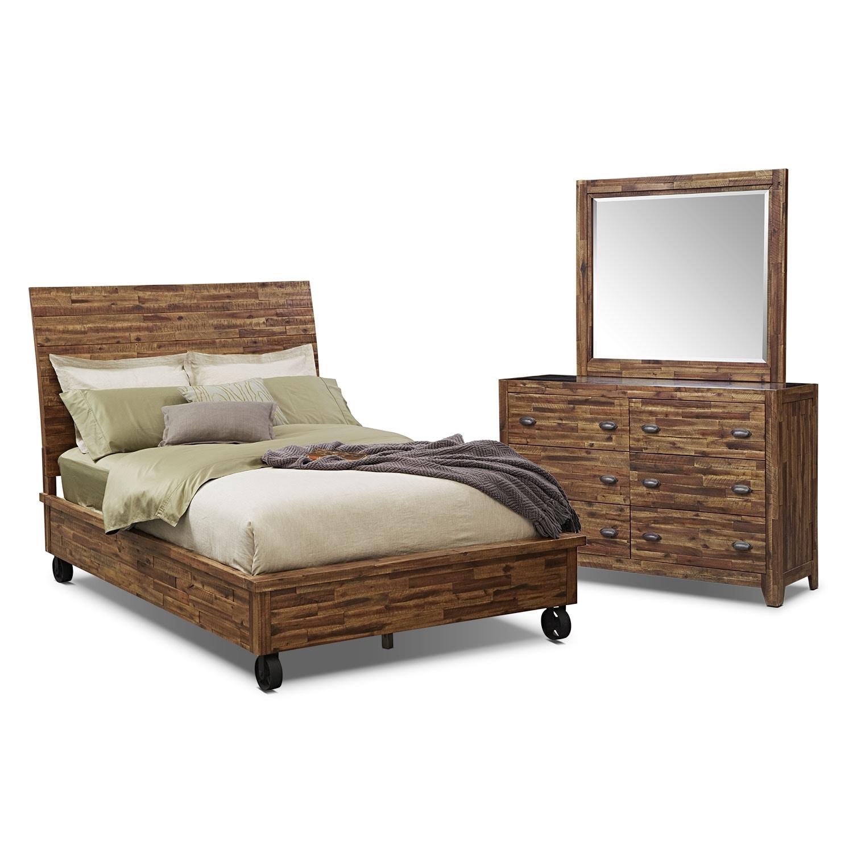 [Crosswoods 5 Pc. Queen Bedroom]