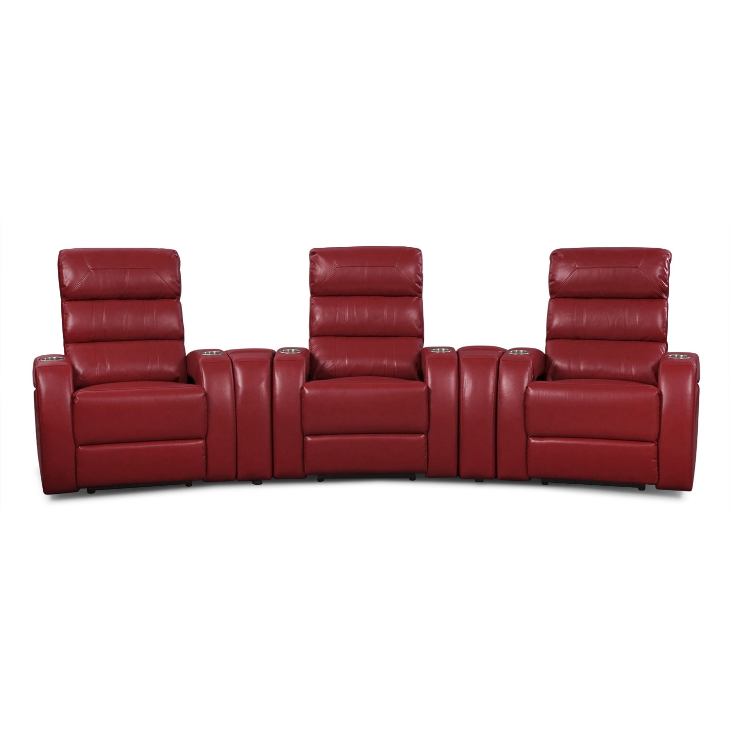 [Gemini III 5 Pc. Power Home Theater Sectional]