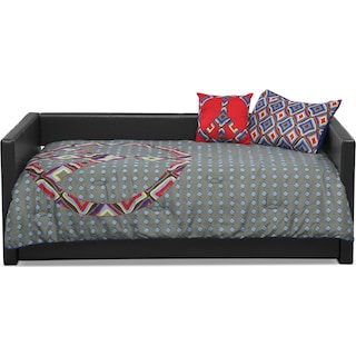 Peace Sign 3-Piece Twin Comforter Set - Blue and Gray