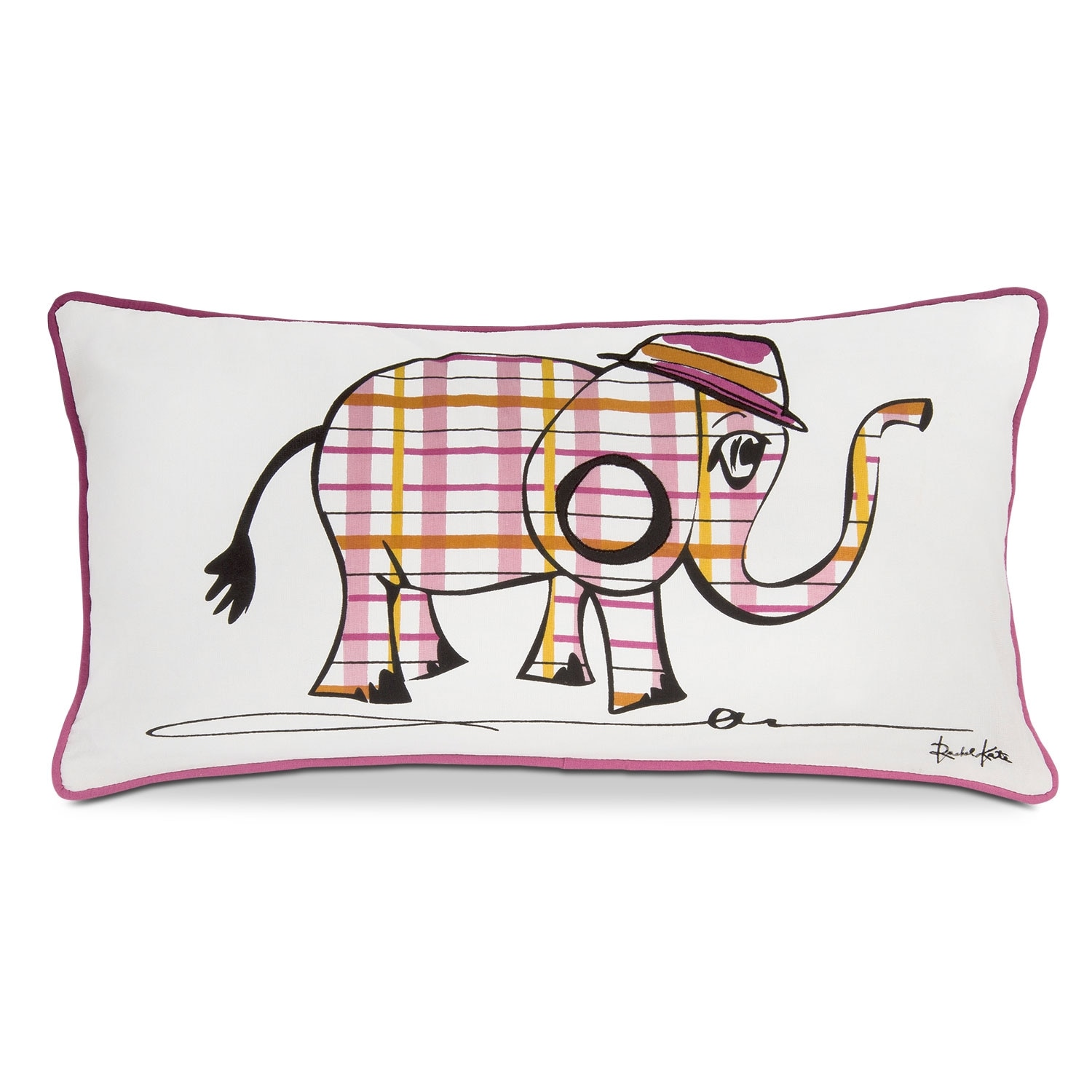 Punky Elephant Decorative Pillow
