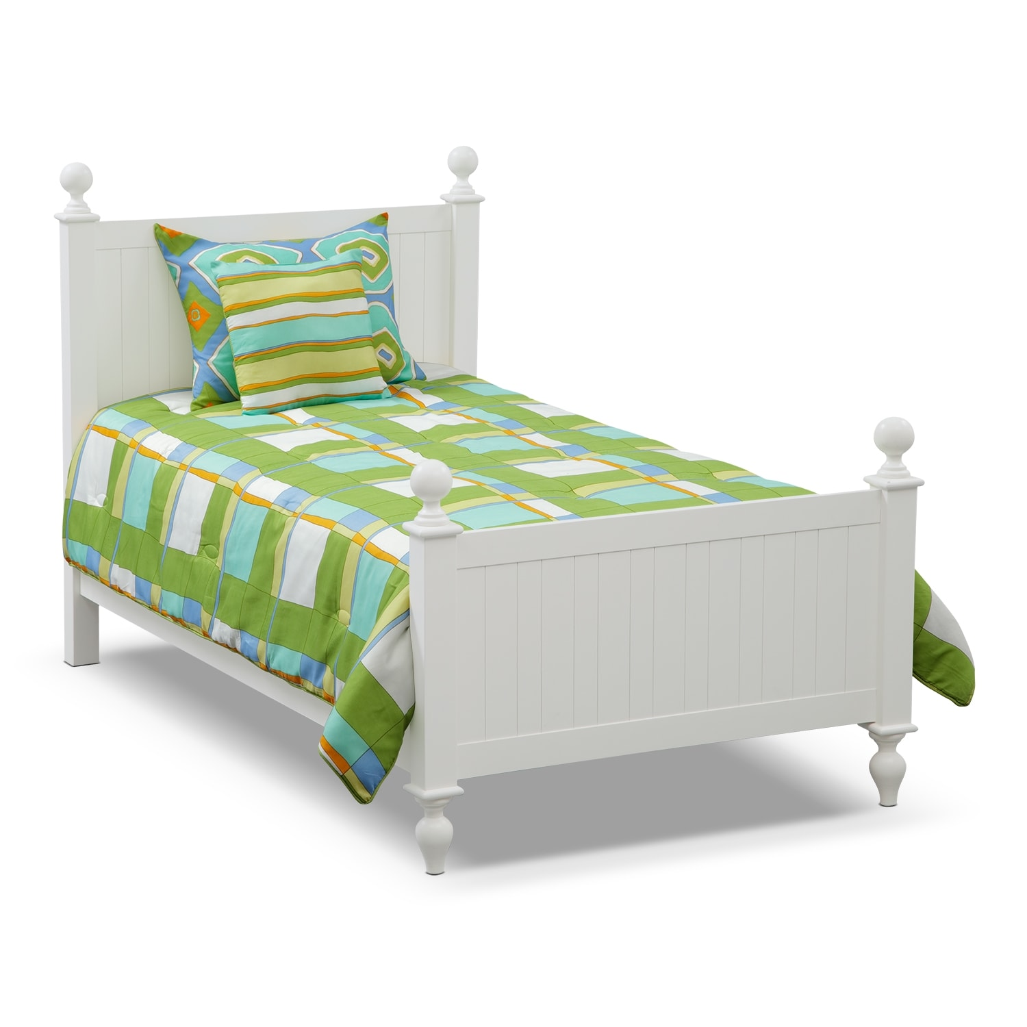 Accent and Occasional Furniture - Dillon 4-Piece Full/Queen Comforter Set - Green and Yellow