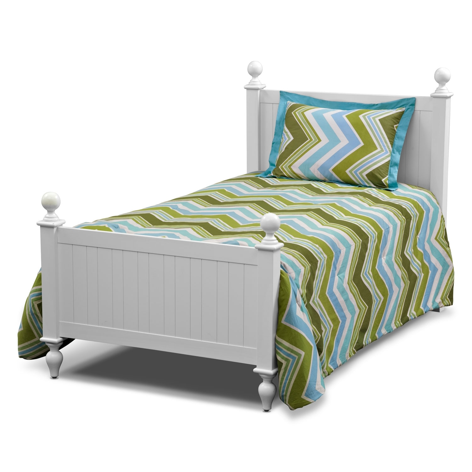 Accent and Occasional Furniture - Happy Chick 3-Piece Full/Queen Comforter Set - Lime and Teal