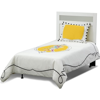 Kayla 3-Piece Full/Queen Comforter Set - White and Yellow
