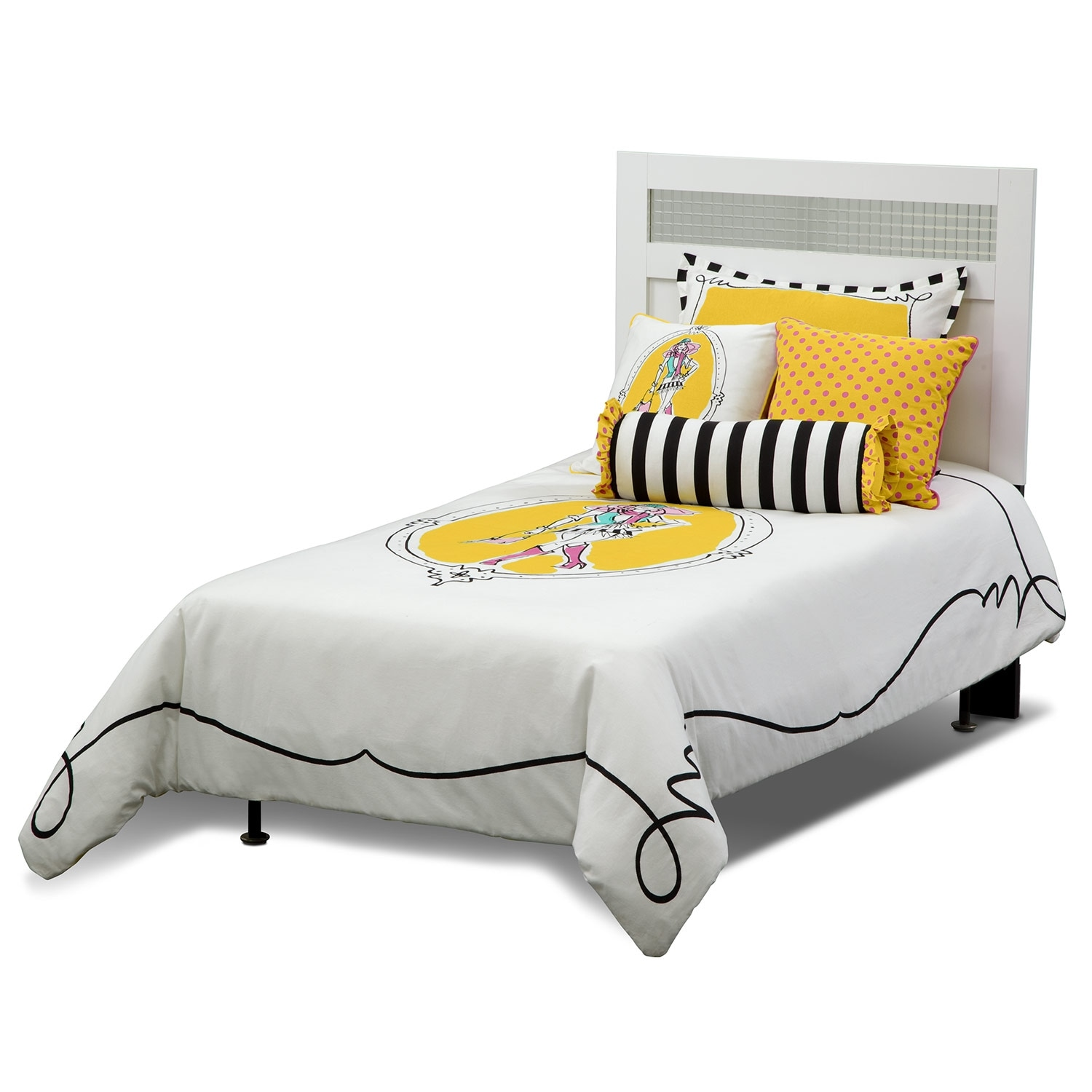 Accent and Occasional Furniture - Kayla Twin Bedding Set