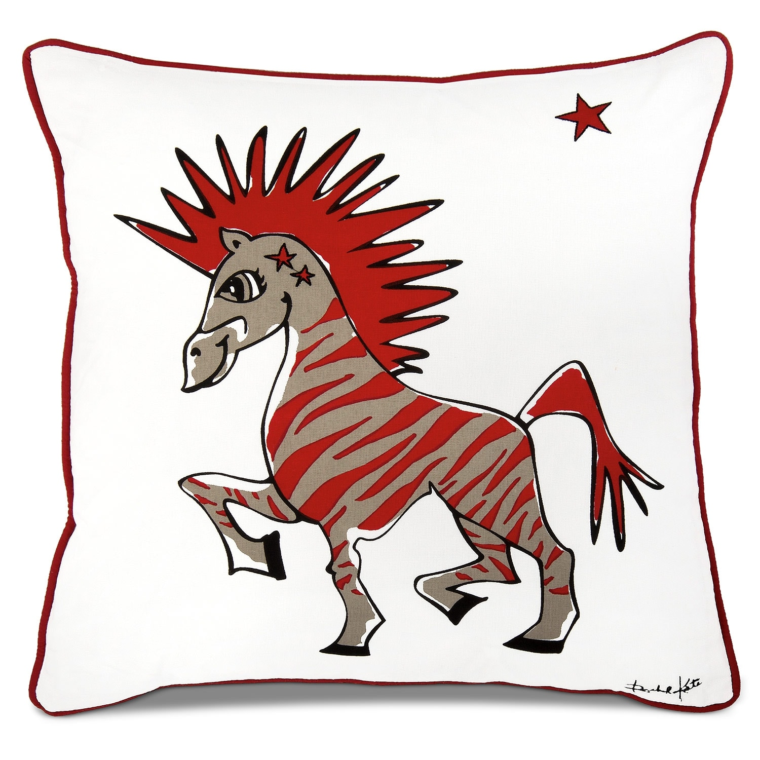 Punker Zebra Decorative Pillow