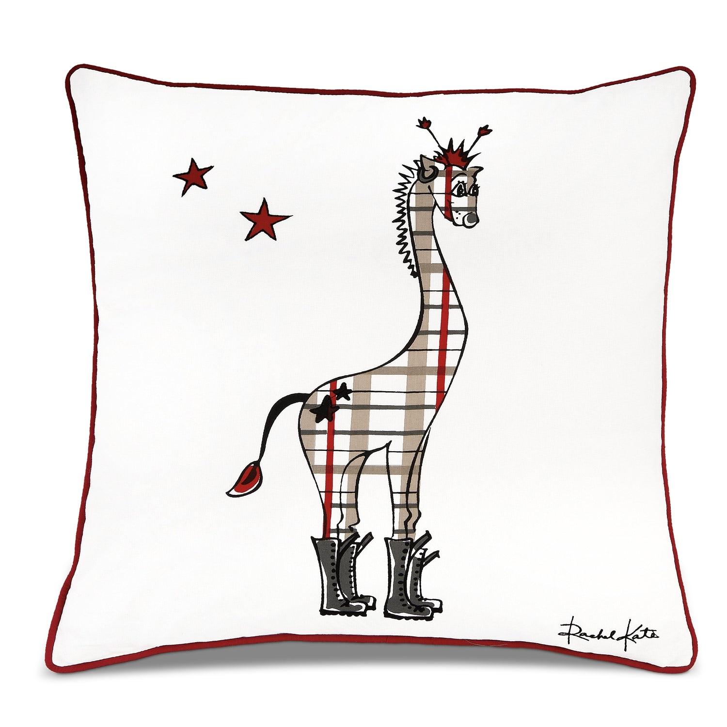 Punker Giraffe Decorative Pillow