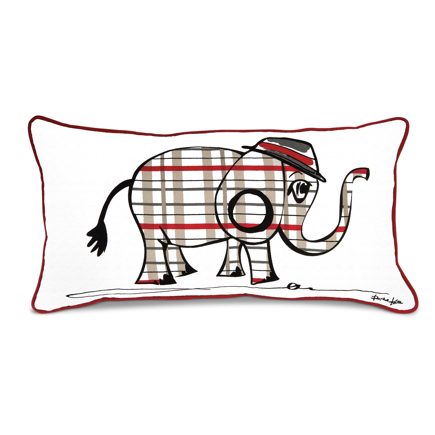 Punker Elephant Decorative Pillow