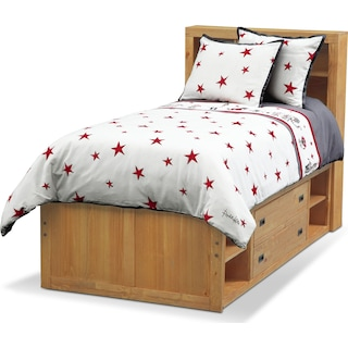 Punker Boys 3-Piece Full/Queen Comforter Set - White and Red