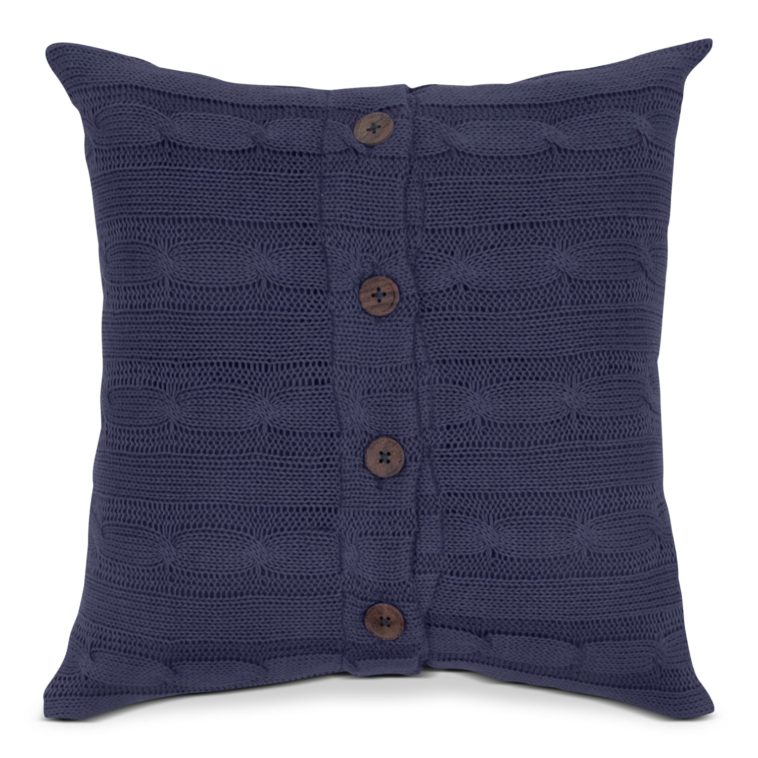 Cable Navy Decorative Pillow