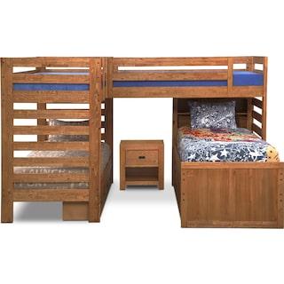Traveler 3-Piece Full/Queen Comforter Set - Navy and Red