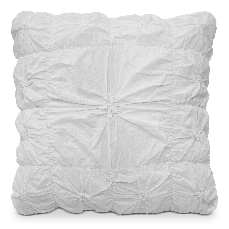 Accent and Occasional Furniture - Erin II Euro Sham - White