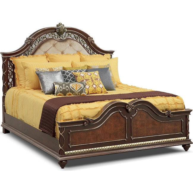 Accent and Occasional Furniture - Janice 3-Piece King Quilt Set - Chocolate